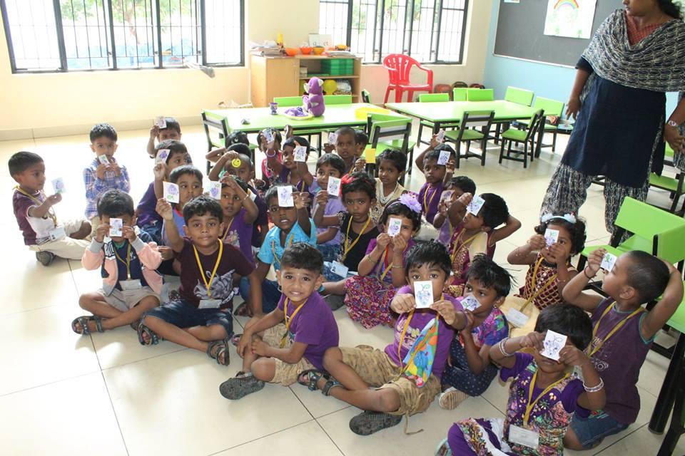 Vallabha Vidyalaya-Violet Day KG
