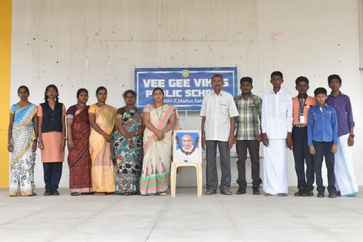 Vee Gee Vikas Public School-Kamaraj Birthday Celebrations