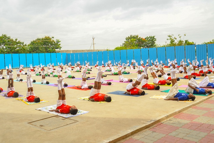 Velammal Vidyalaya-Yoga Day