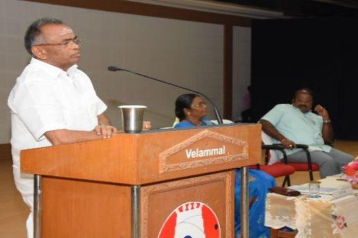 Velammal Vidyalaya-Speech