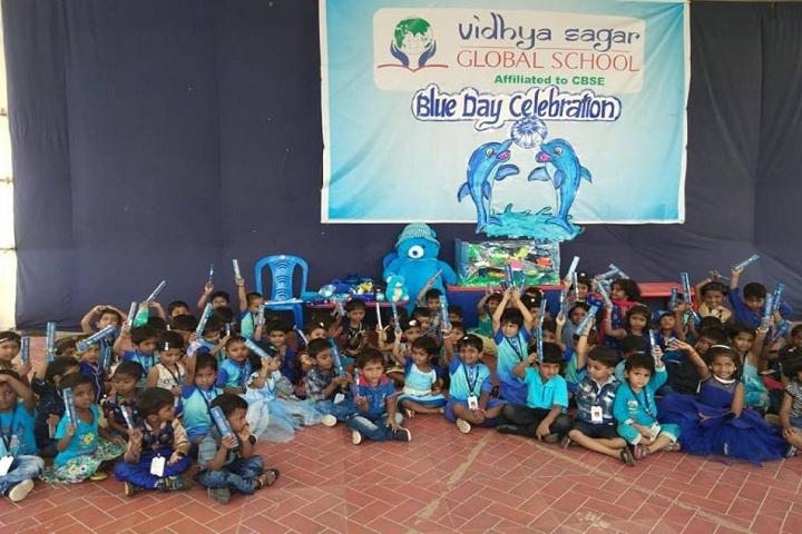 Vidya Sagar Global School-Blue Day Celebration