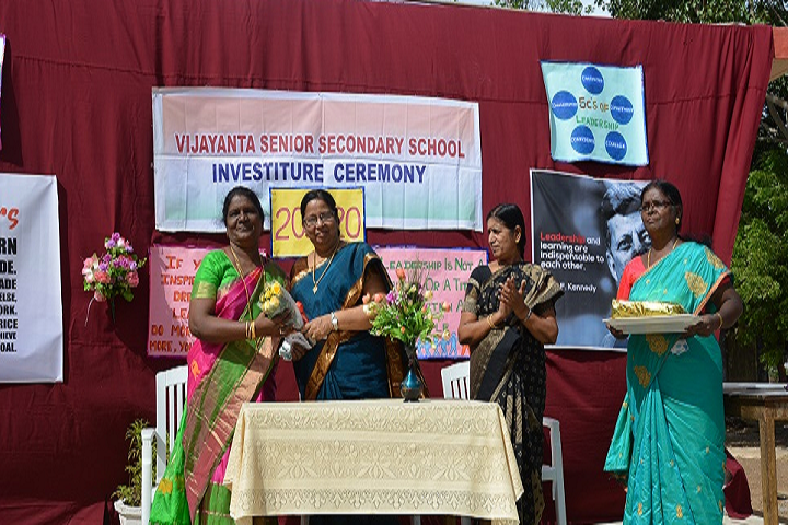 Vijayantha Senior Secondary SchooL-Investiture Ceremony