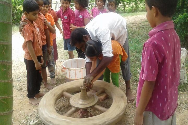 Abhaya School-Kids Pottery