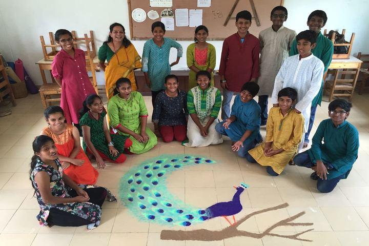 Abhaya School-Rangoli Activity