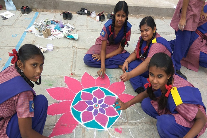 Bhartiya Vidya Bhawan-Rangoli Competition