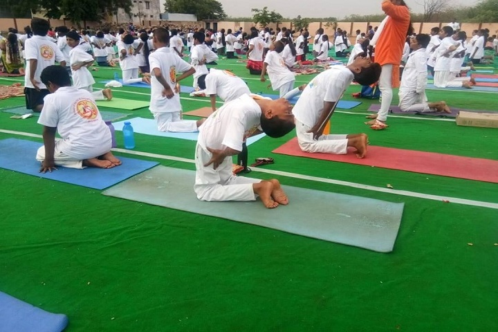 Cmr International The School-Yoga Day