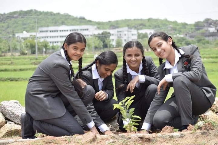 Navyabharathi Global School-Tree Plantation