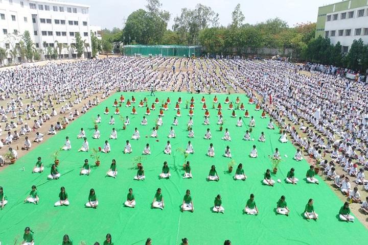 Pallavi Model School-Yoga Day