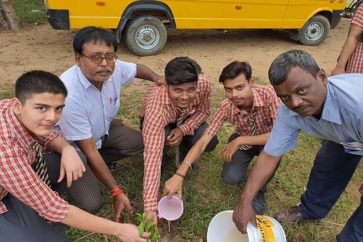 Residential Sun Beam Public School-Planting Tree