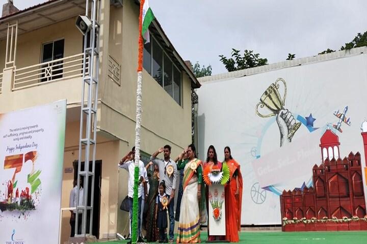 The Creek Planet School-Venus Campus Flag Hoisting