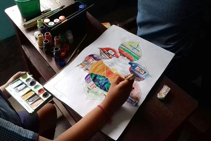 Siksha Bhavan Montessori School-Painting