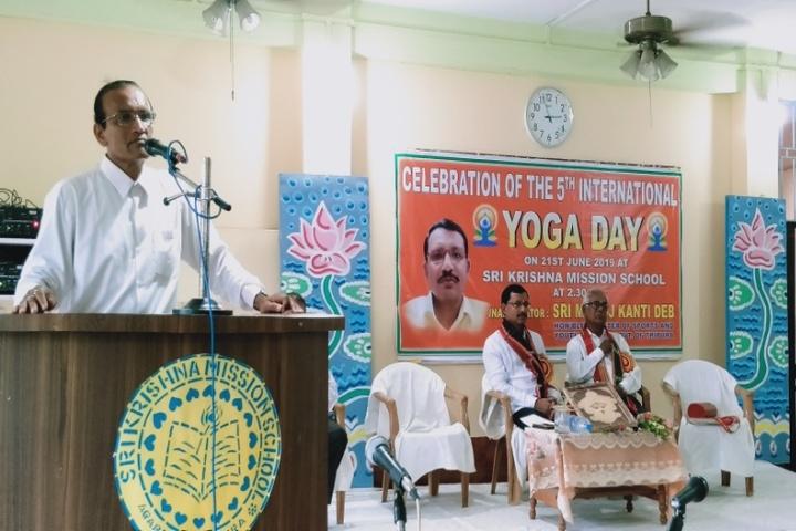 Sri Krishna Mission School-Yoga Day