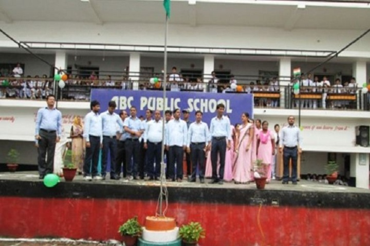 Abc Public School-Flag hoisting