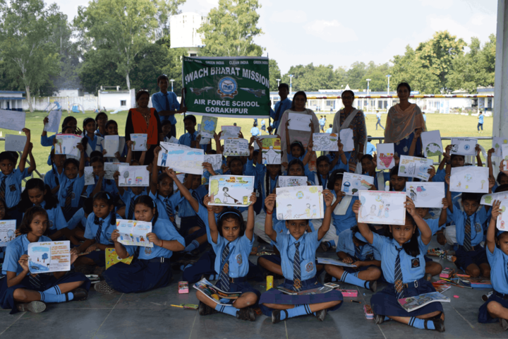 Air Force School-Swachh Bharat Activity