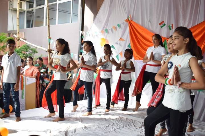 Ajmani International School -Group Dance Activity