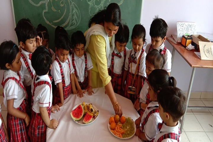 Ajmani Public School-Fruit activity
