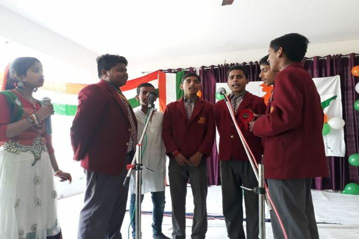 Akshar Jyothi Public School-Group Song Activity