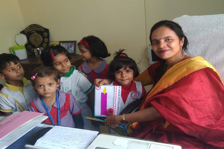 Allahabad Public School College - Diwali Card Making Activity