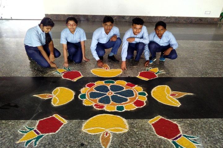 Ambition International School-Rangoli Event