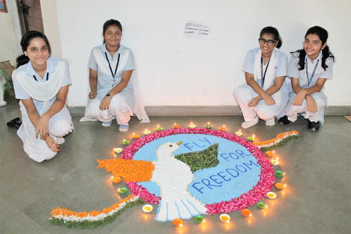 Amity International School - Rangoli Competition