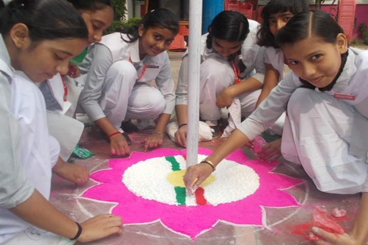 Anand Memorial Academy - Rangoli Competition