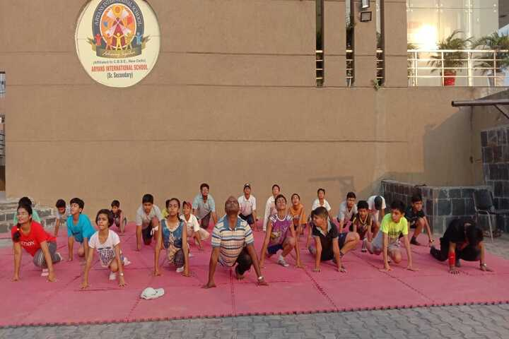Aryans International School-Yoga Day
