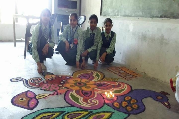 Aryavrat Academy-Rangoli Event