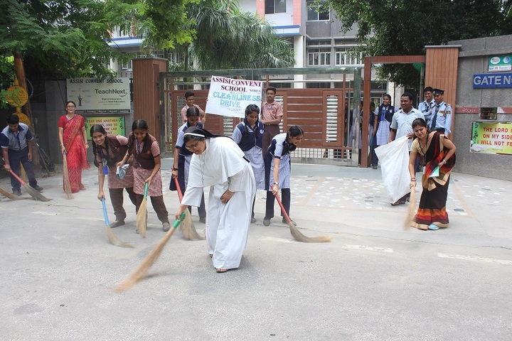 Assisi Convent School-Swach Bharat