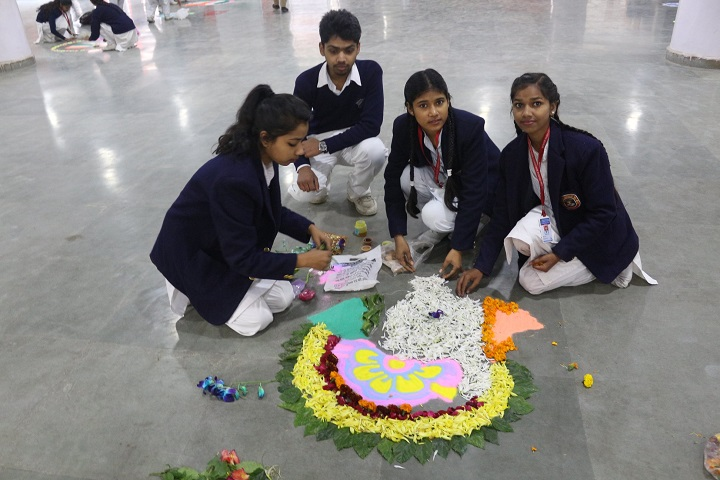 B Devras Saraswati Vidya Mandir-Rangoli
