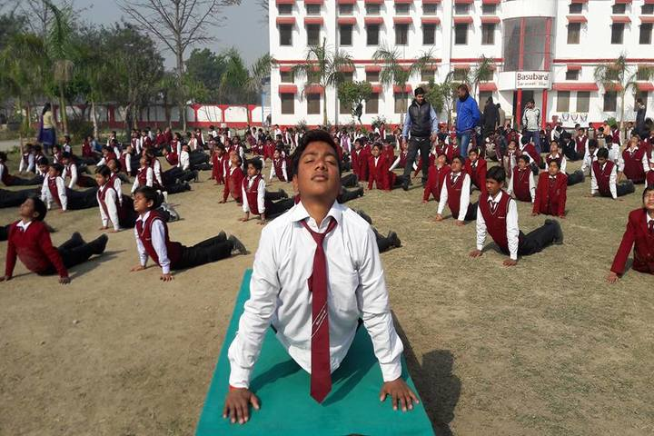 Basu Baral saraswathi vihar-Yoga day celebrations