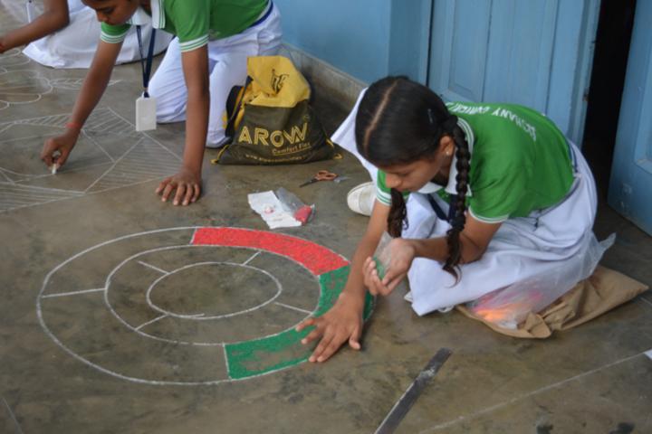 Bethany Convent Senior Secondary School-Rangoli Celebrations