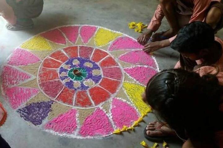 Saraswati Shishu Mandir-Rangoli