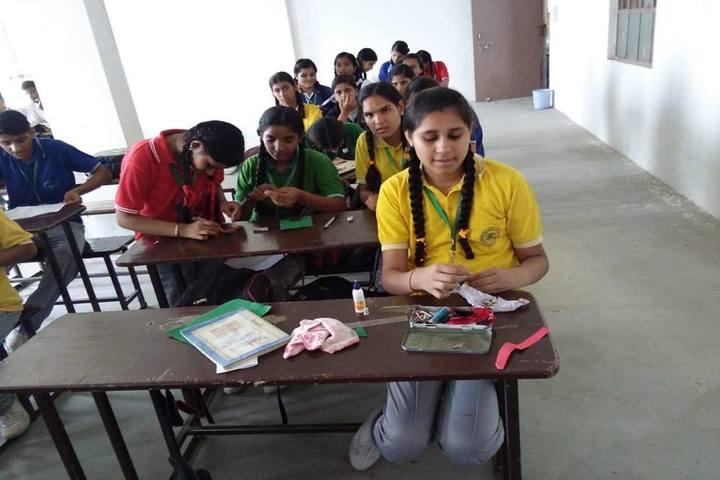 C V International School-Rakhi Making