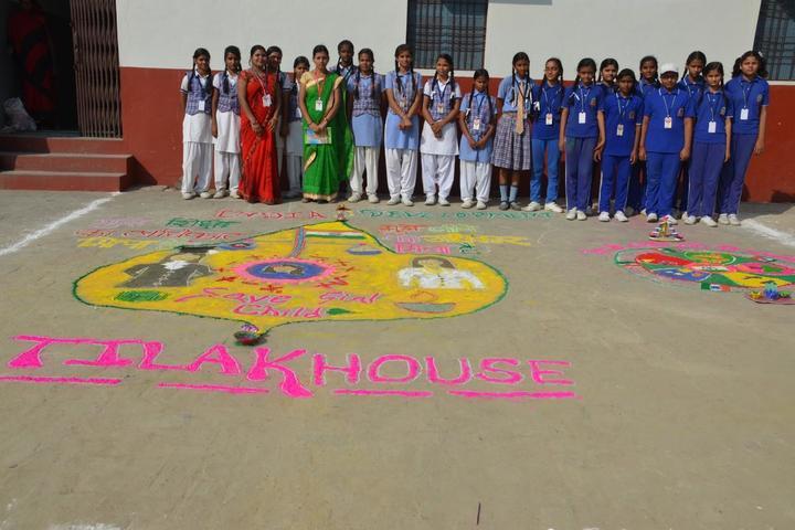 Chandraprabha Public School-Rangoli