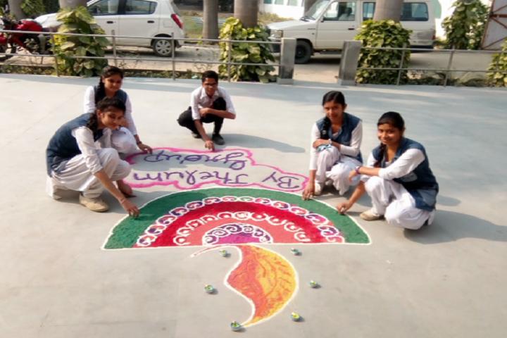 Chandrawati Public School-Rangoli