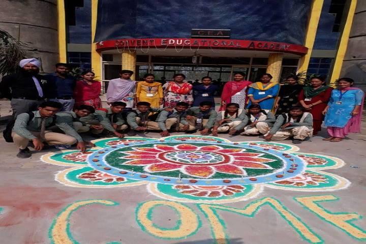 Convent Educational Academy-Rangoli