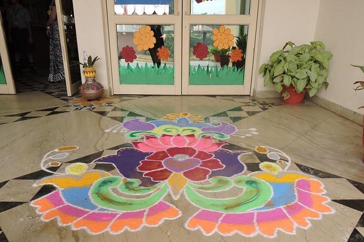 Delhi Scottish School-Events rangoli