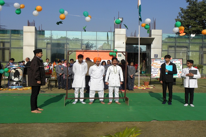Dewan Public School International-Flag Hoisting