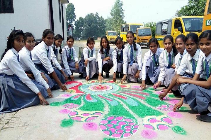 Divyajyoti Public School-Events rangoli drawing