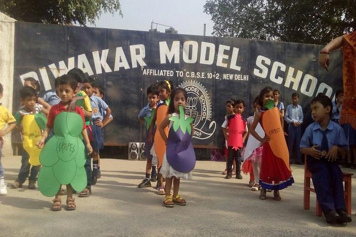 Diwakar Model School-Vegetables Day