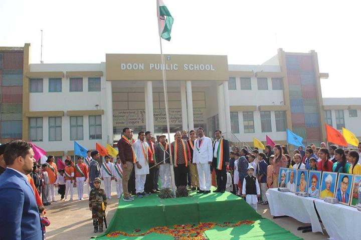 Doon Public School-Flag Hoisting