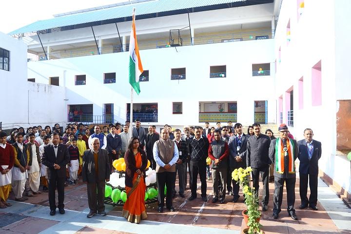 Dr K N Modi Global School-Flag Hoisting