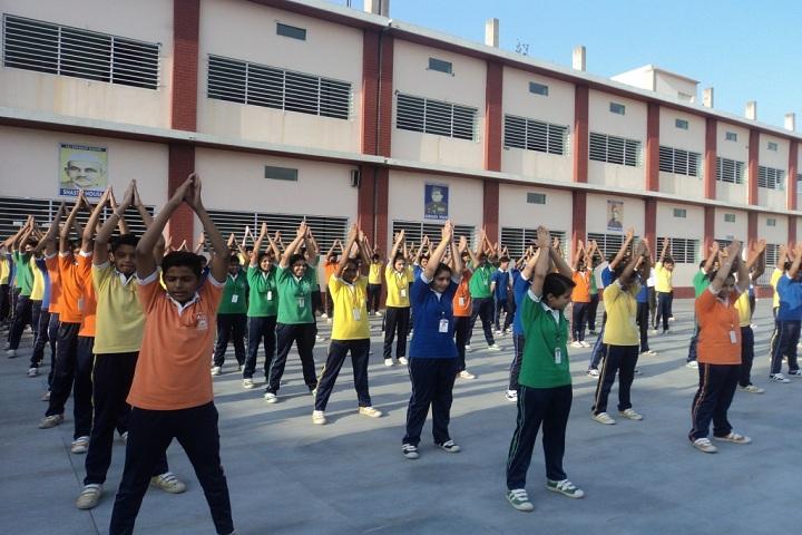 DSR Modern School-Morning exercise