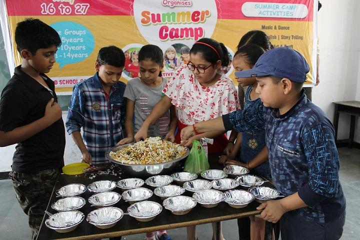 Florets International School-Bhel Puri Preparation