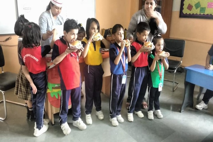Gagan Public School-Children Eating Burger