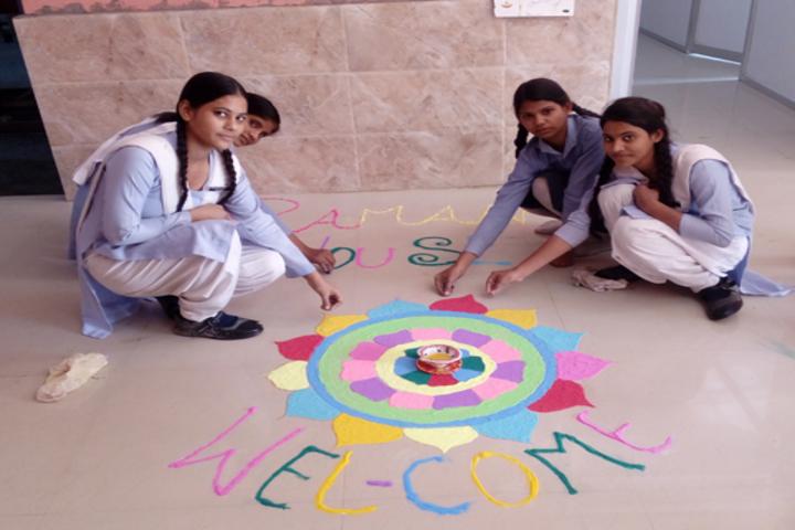 Genius Public School-Rangoli