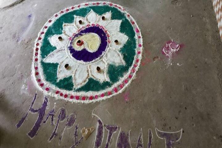 Shri Rani Saraswati Vidya Mandir-Rangoli