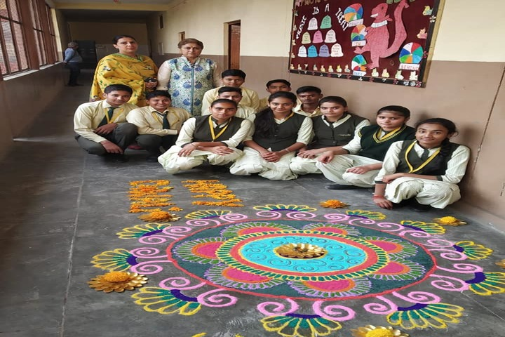 Gyansthali Public School-Rangoli Competition
