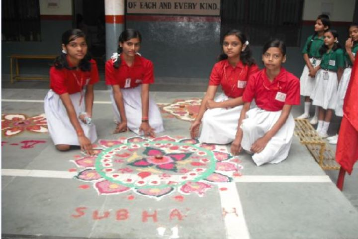 H S Memorial Public School-Rangoli Competition