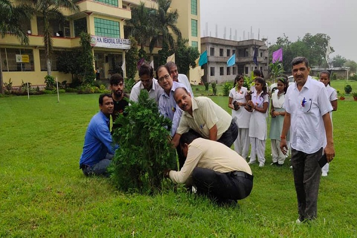 H N Memorial Girls Inter College-Tree Plantation
